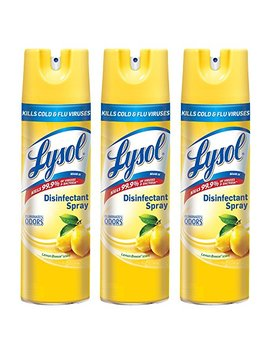 Lysol Disinfectant Spray, Lemon Breeze, 19 Ounce (Pack Of 3) by Lysol