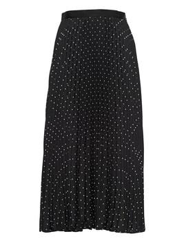 Polka Dot Pleated Midi Skirt by Banana Repbulic