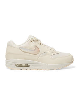 Air Max 1 Leather And Canvas Sneakers by Nike