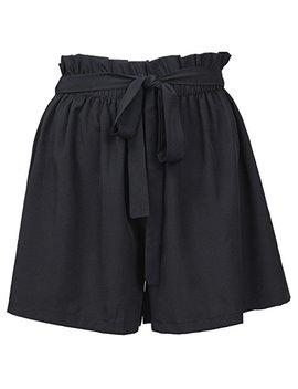 Qz Unique Women's Summer Casual Elastic Waist A Line Bowknot Loose Shorts by Qz Unique