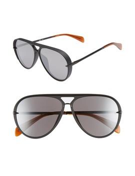 60mm Mirrored Aviator Sunglasses by Rag & Bone