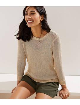 Shimmer Open Knit Sweater by Loft