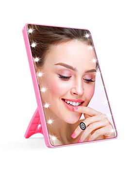 Makeup Mirror For Women And Men, Lighted Makeup Vanity Mirror With 16 Led Lights,Touch Screen,Light Adjustable Dimmable Light Up Mirrors For Home Tabletop Bathroom Shower Travel by Ahooh