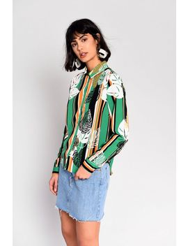 **Tropical Palm Blouse By Glamorous by Topshop
