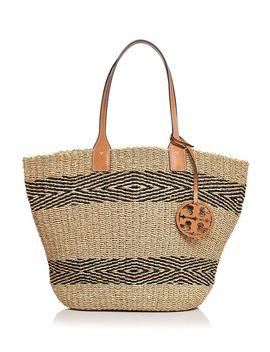 Miller Straw Striped Tote by Tory Burch