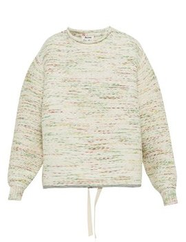 Drawstring Mélange Knit Oversized Sweater by Acne Studios