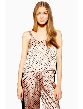Animal Velvet Camisole Pyjama Top by Topshop