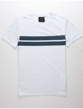 Blue Crown Anders Stripe Navy Mens T Shirt by Blue Crown