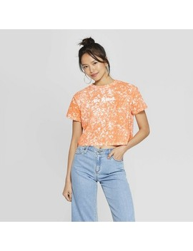 Women's Short Sleeve Crewneck Be Kind Cropped T Shirt   Freeze (Juniors')   Orange by Shirt