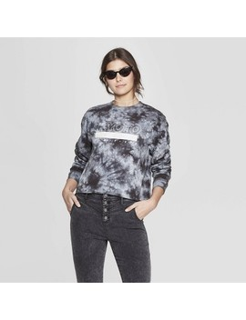 Women's Long Sleeve Crewneck Kyoto Cropped T Shirt   Mighty Fine (Juniors')   Gray by Shirt