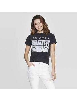 Women's Friends Short Sleeve Screen Graphic T Shirt (Juniors')   Black by Shirt (Juniors')