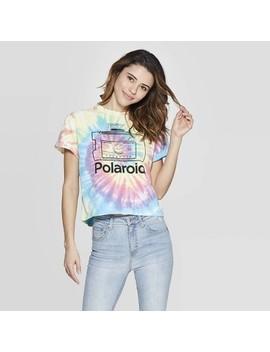 Women's Polaroid Short Sleeve Cropped T Shirt (Juniors')   Tie Dye by Shirt (Juniors')