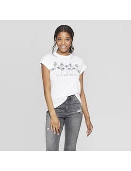 Women's Sleeveless Scoop Neck Let The Good Vibes Roll T Shirt   Grayson Threads (Juniors')   White by Shirt
