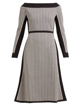 Romantic Tile Jacquard Midi Dress by Fendi