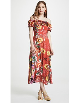 off-shoulder-frilly-dress-with-full-skirt by tata-naka