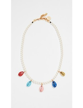 rainbow-shell-swarovski-crystal-pearl-necklace by venessa-arizaga