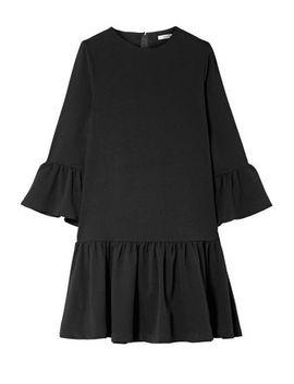Clarke Ruffled Crepe Mini Dress by Ganni