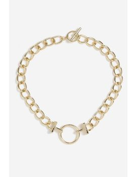 **Ring Link Chain Necklace by Topshop