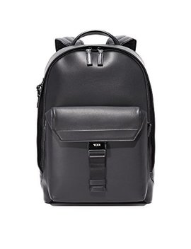 Tumi Men's Ashton Leather Morrison Backpack, Black, One Size by Tumi
