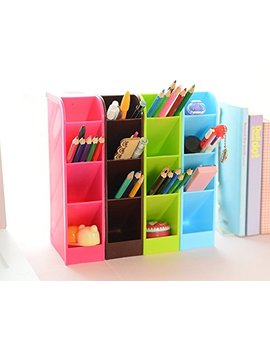 Lani Ang Multifunction Four Grid Candy Colored Desktop Debris Storage Organizer Box For Office,Stationery Pen, Socks, Make Up Tools(Set Of 4) by Lani Ang