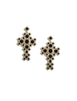 Mega Cross Drop Earrings by Topshop