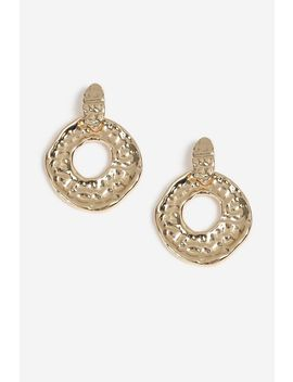 Hammered Door Knocker Earrings by Topshop