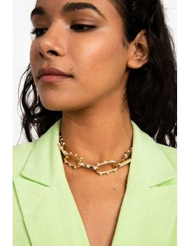 **Pearl Link Necklace by Topshop