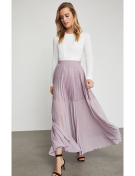Tisa Colorblocked Pleated Maxi Skirt by Bcbgmaxazria