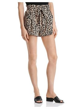 Paperbag Waist Leopard Print Shorts   100 Percents Exclusive by Aqua