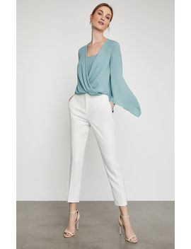 Handkerchief Sleeve Wrap Top by Bcbgmaxazria