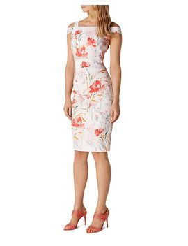 Cold Shoulder Floral Sheath Dress by Karen Millen