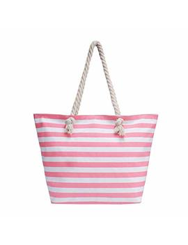 Large Waterproof Beach Bag With Interior Zipper Purse/Lining Bag/Top Zipper Bag With Replaceable Handles by Sornean