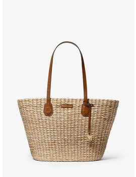 Malibu Woven Straw Tote Bag by Michael Michael Kors