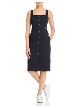 Button Front Pinafore Dress   100 Percents Exclusive by Karen Millen