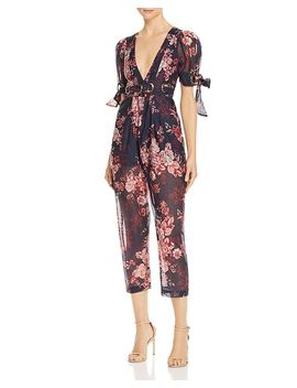 Everything Plunging Floral Jumpsuit by Alice Mc Call