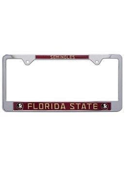 All Metal Ncaa Mascot License Plate Frame (Florida State) by Amg
