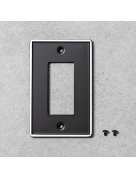 2pk Metal Painted Enamel Toggle Switch Plate Black   Hearth & Hand With Magnolia by Hearth & Hand With Magnolia