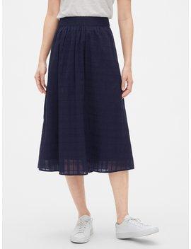Dobby Pattern Midi Skirt by Gap