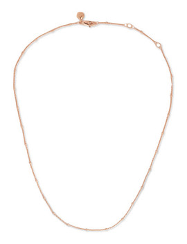 "Fine Beaded 16 18"" Rose Gold Vermeil Chain by Monica Vinader"