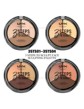 Nyx 3 Steps To Sculpt Face Sculpting Palette *Choose Any Shades* by Nyx