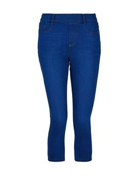 Bright Blue 'Eden' Super Soft Cropped Jeggings by Dorothy Perkins