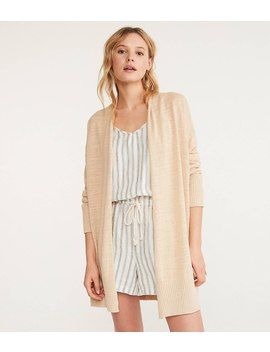 Lou &Amp; Grey Linen Cotton Open Cardigan by Loft