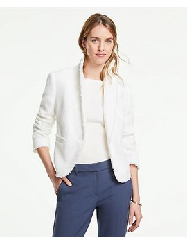 The Newbury Blazer In Fringe Tweed by Ann Taylor