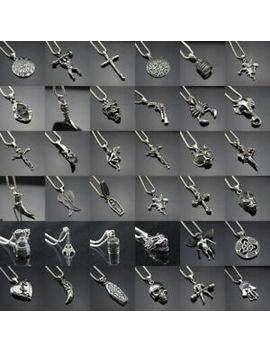 """Women Men 24"""" Chain Hip Hop Necklace Stainless Steel Cross Punk Pendant Jewelry by Unbranded"""