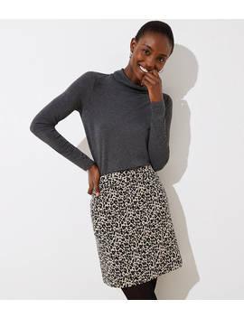 Leopard Print Shift Skirt by Loft