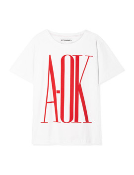 Oversized Printed Cotton Jersey T Shirt by L.F.Markey