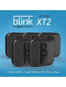 All New Blink Xt2 Outdoor/Indoor Smart Security Camera With Cloud Storage Included, 2 Way Audio, 2 Year Battery Life – 5 Camera Kit by Blink Home Security