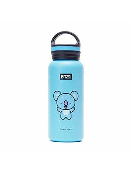 Line Friends Bt21 Official Merchandise Koya Vacuum Drinking Tumbler Cup With Lid 16 Oz, Sky Blue by Amazon