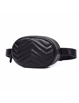 Women Waist Packs Travel Elegant Leather Waist Bag Phone Pouch Belts Fanny Pack Bag by Fl Margaret