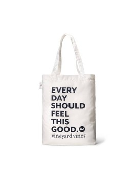 Everyday Should Feel This Good Reusable Bag With Pouch   White   Vineyard Vines® For Target by White
